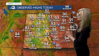 Record high today, huge cool down ahead