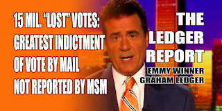 """15 Mil. """"Lost"""" Votes: Greatest Indictment Vote by Mail Not Reported by MSM – Ledger Report 1152"""