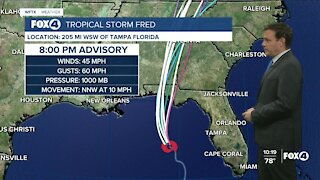 Tracking Tropical Storm Fred