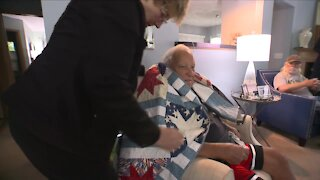 Covering our heroes: Quilts of Valor organization stitches quilt for local veteran