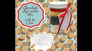CHOCOLATE CHIP COOKIE MIX!! GIFT IN A JAR!! HOMEMADE HOLIDAY!!