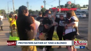 Protesters Gather at 72nd & Blondo
