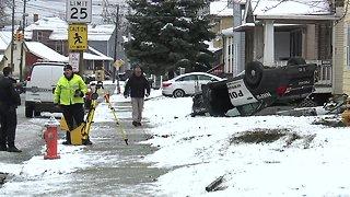 Newburgh Heights police officer injured in rollover crash