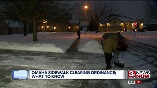 Omaha sidewalk clearing ordinance; Your questions answered