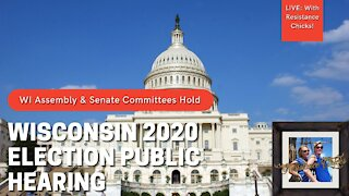 Hrs 4:45 thru 7:15 Wisconsin Election 2020, Witnesses at Hearing