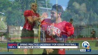 Keiser Spring football practice 3/28