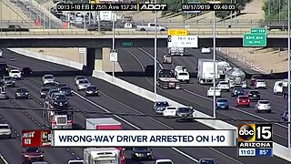Wrong-way driver arrested on I-10