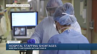 Hospital staffing shortages due to COVID