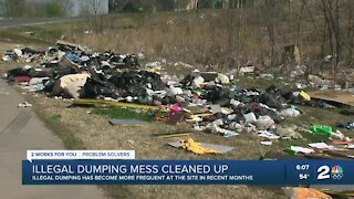 Illegal dumping mess cleaned up