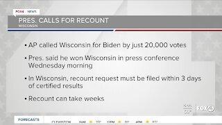 President Trump demands recount