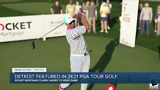 Detroit's Rocket Mortgage Classic featured in 2K21 PGA Tour Golf video game