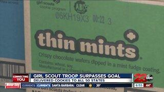 Girl scout troop surpasses goal