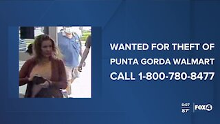 Woman wanted from stealing from a Punta Gorda Walmart