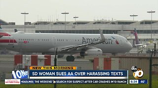 Woman sues American Airlines over worker's harassing text messages