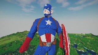 Minecraft Captain America Build