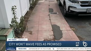 City won't waive fees as promised