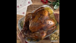 Turkey Stuffed with Meat and Nuts