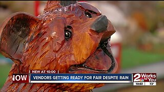 Vendors get ready for day 1 Tulsa State Fair