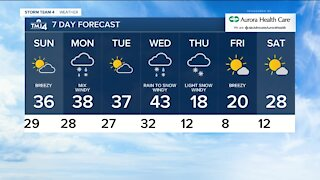 Cold front moves through Saturday night, sunny Sunday ahead