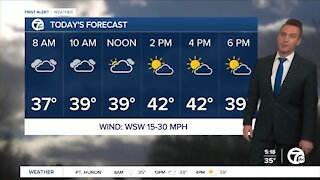 Metro Detroit Forecast: First 40° day in a month