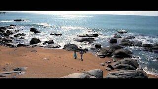 Couple romantic sea and beach time