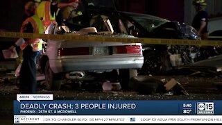 1 killed, 3 hurt in Phoenix crash