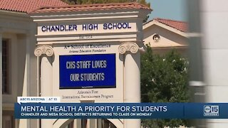 Mental health a priority for students returning to schools