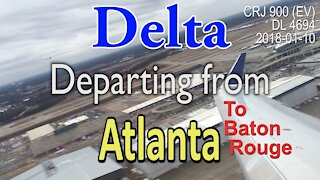 Delta Airlines flight DL4694 departing from Atlanta to Baton Rouge