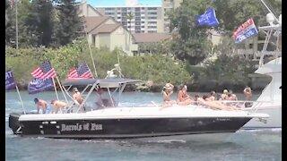 MAGA boat trump in Charleston, South Carolina draws thousands
