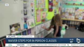 Concerns raised over California waiver for reopening schools