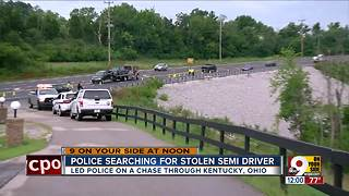 Semi driver leads police on multistate chase