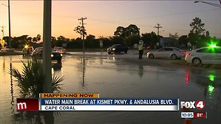 Water main break in Cape Coral