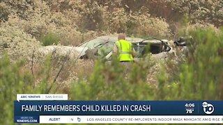 Family remembers child killed in Deer Springs crash