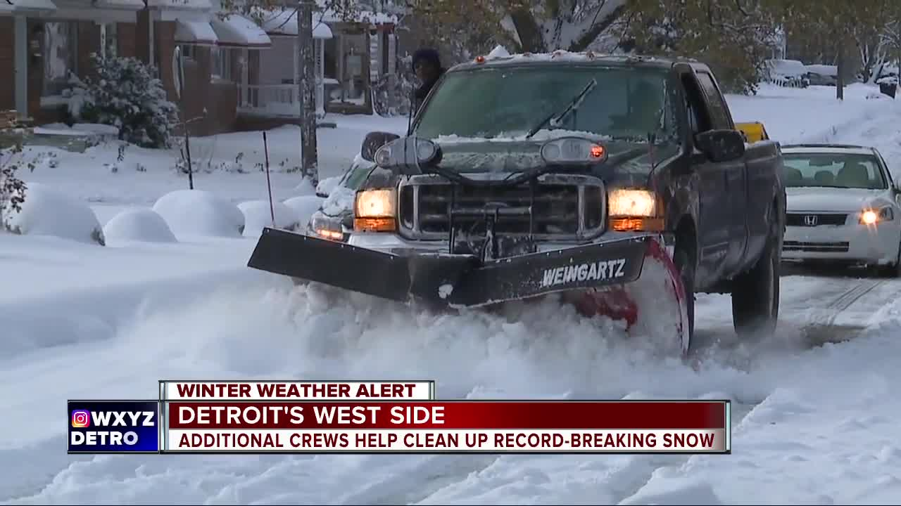Additional crews help clean up record-breaking snow in Detroit