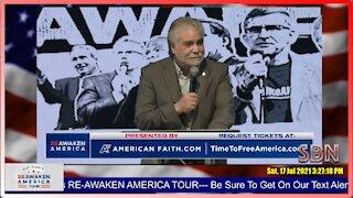 Pastor Ramiro Pena at the Reawaken America Tour in Anaheim CA - 2487