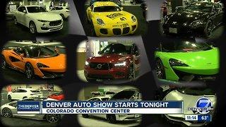 Denver Auto Show starts tonight
