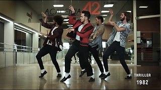 Dance Crew Performs The Evolution Of Michael Jackson's Dance