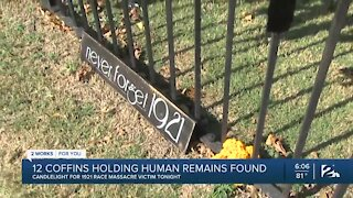 12 coffins holding human remains found