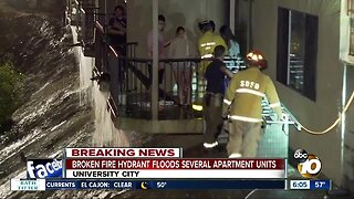 Broken fire hydrant floods several University City apartment units