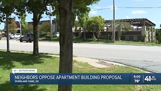 Neighbors oppose apartment building proposal