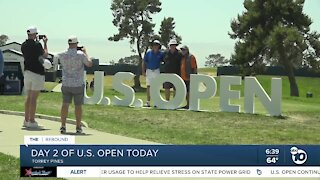 Day 2 of U.S. Open at Torrey Pines tees off