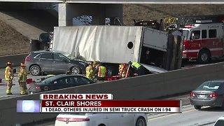 Driver killed in semi-truck crash