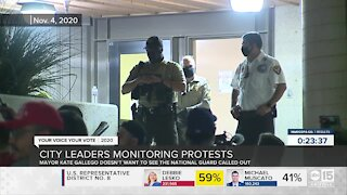 City leaders monitoring protests over election results