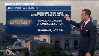 What is a code orange air quality alert?