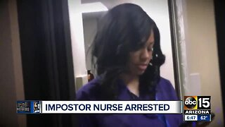 Impostor nurse's arrest captured on police body camera