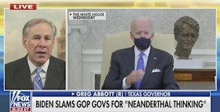 "Texas Gov. Abbott Punches Back HARD at Biden's ""Neanderthal"" Remark"