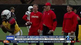 Maryland football coach suspended from program during investigation