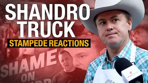 SHAME ON SHANDRO: Rebel News sends billboard truck to the Calgary Stampede