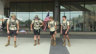 Students embark on 140-mile ruck march raising money and awareness for veterans
