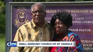 Sandusky church vandalized